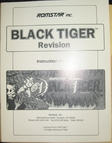 game manual for Black Tiger